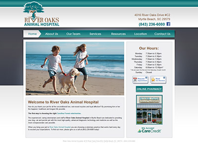 animal hospital website design
