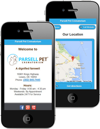 mobile veterinary website